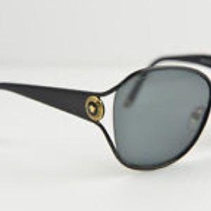 { Versace } Logo Square Sunglasses